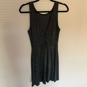 H&M NWT Sparkly V-Lowcut Back Dress